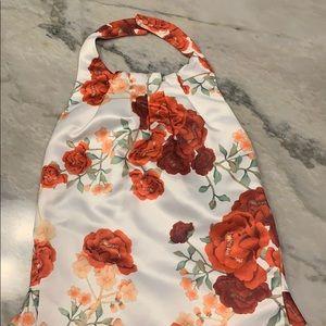 Halter Open Back Floral Dress- worn once